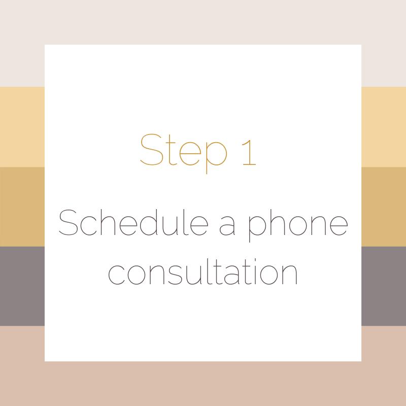 Step 1 Schedule a phone consultation